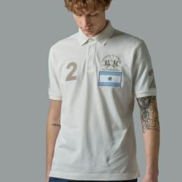 Regular-fit stretch cotton polo shirt